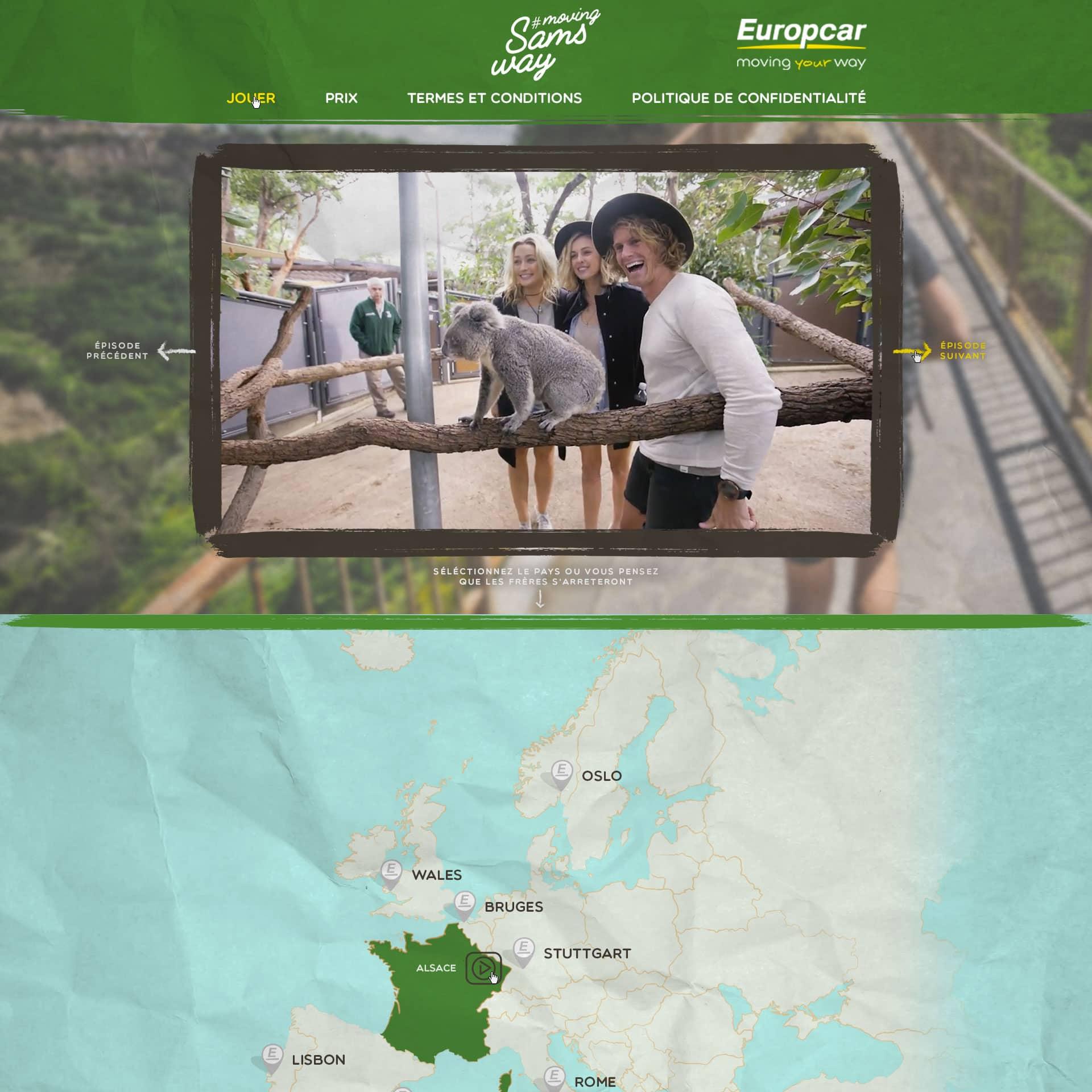Application Facebook Europcar