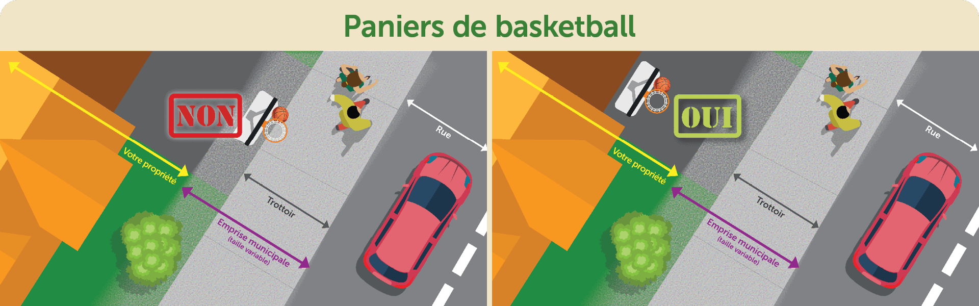 Paniers de basketball