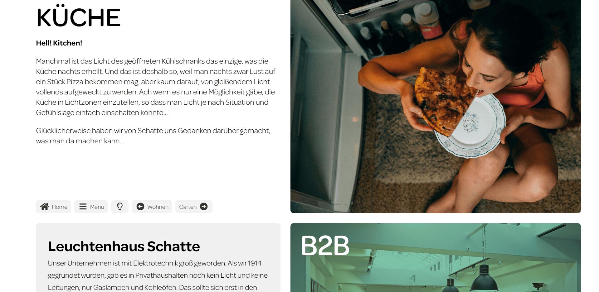 Website Leuchtenhaus Schatte
