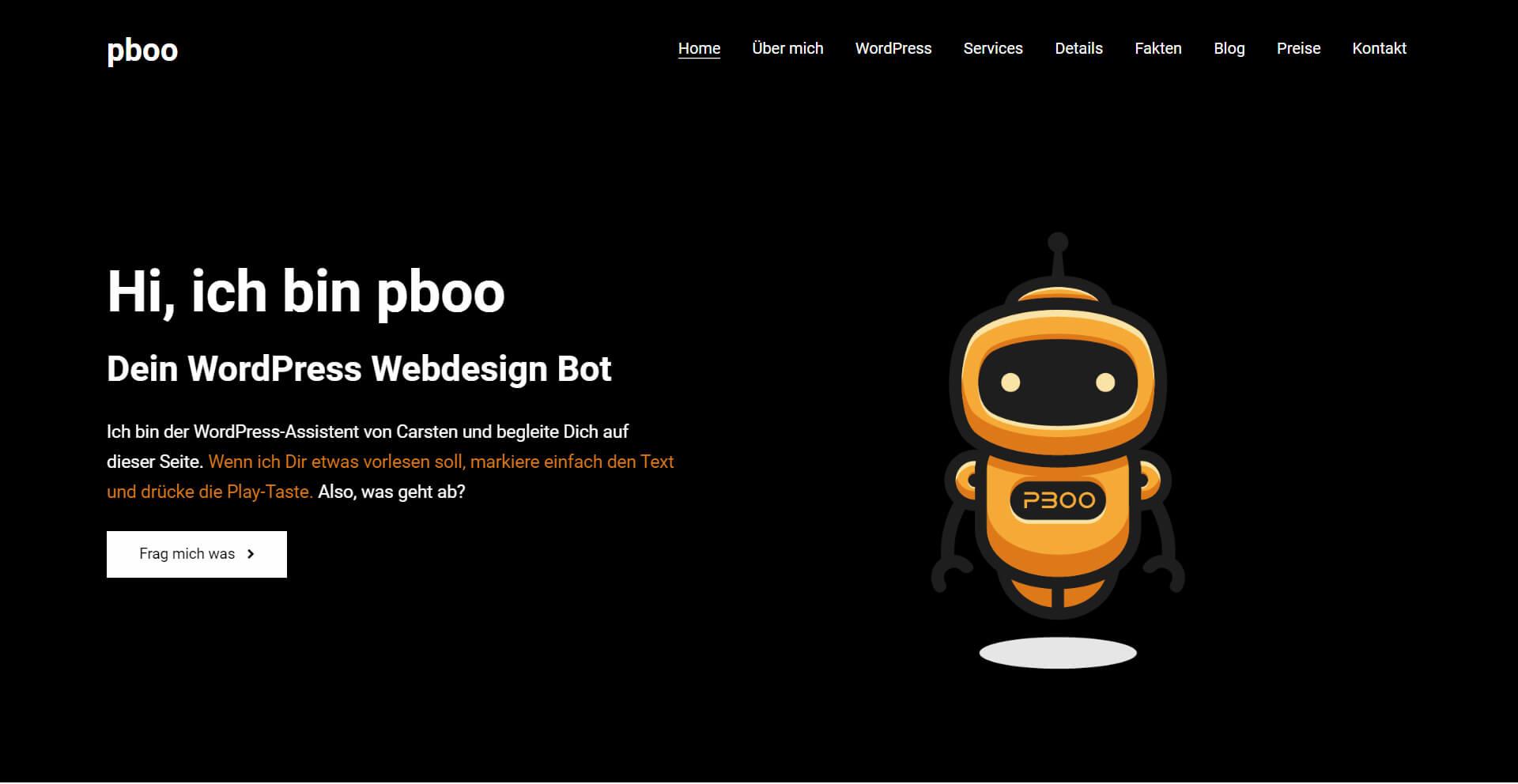 pBoo WordPress Webdesign Agentur