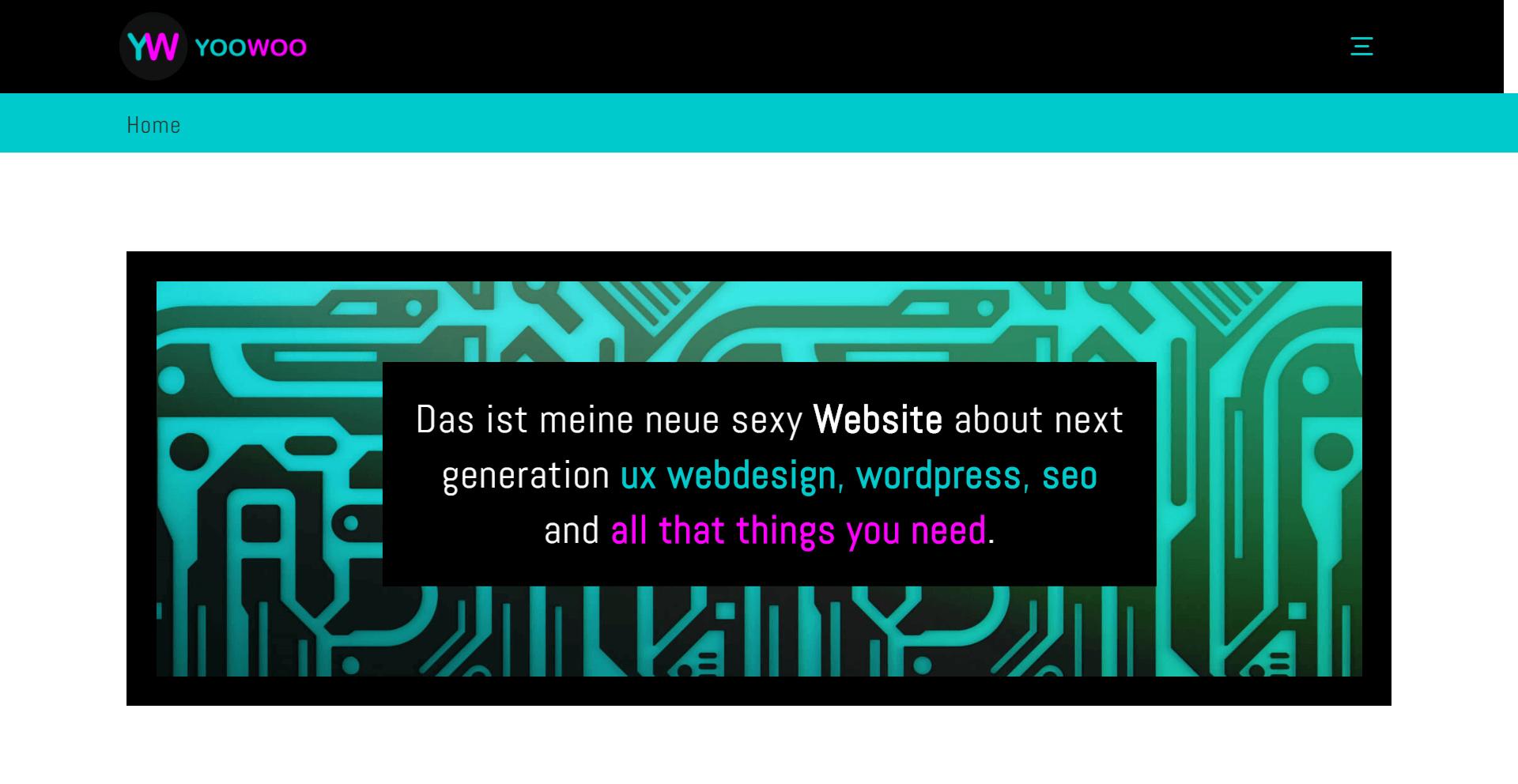 """WordPress Webdesign Referenz """"YOOWOO"""""""