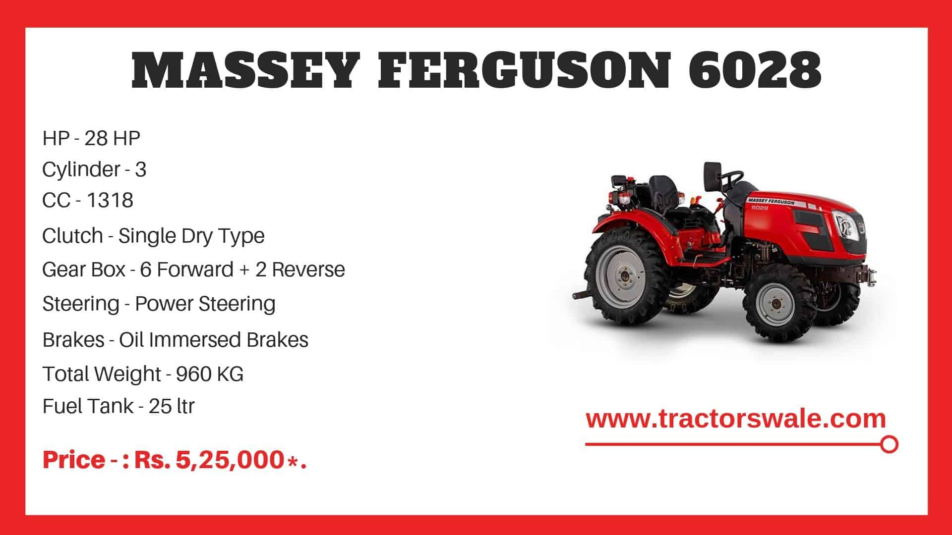 Specifications Of Massey Ferguson 6028