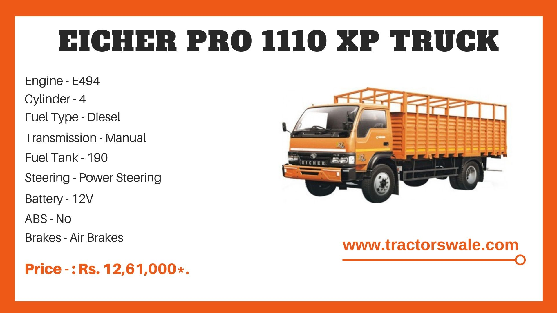 Eicher 1110 truck