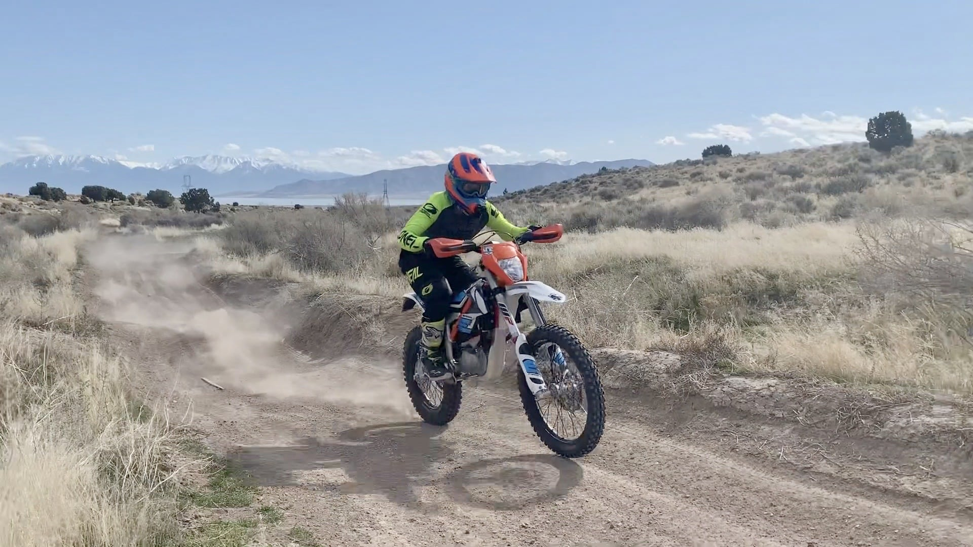 Sam Dirt biking