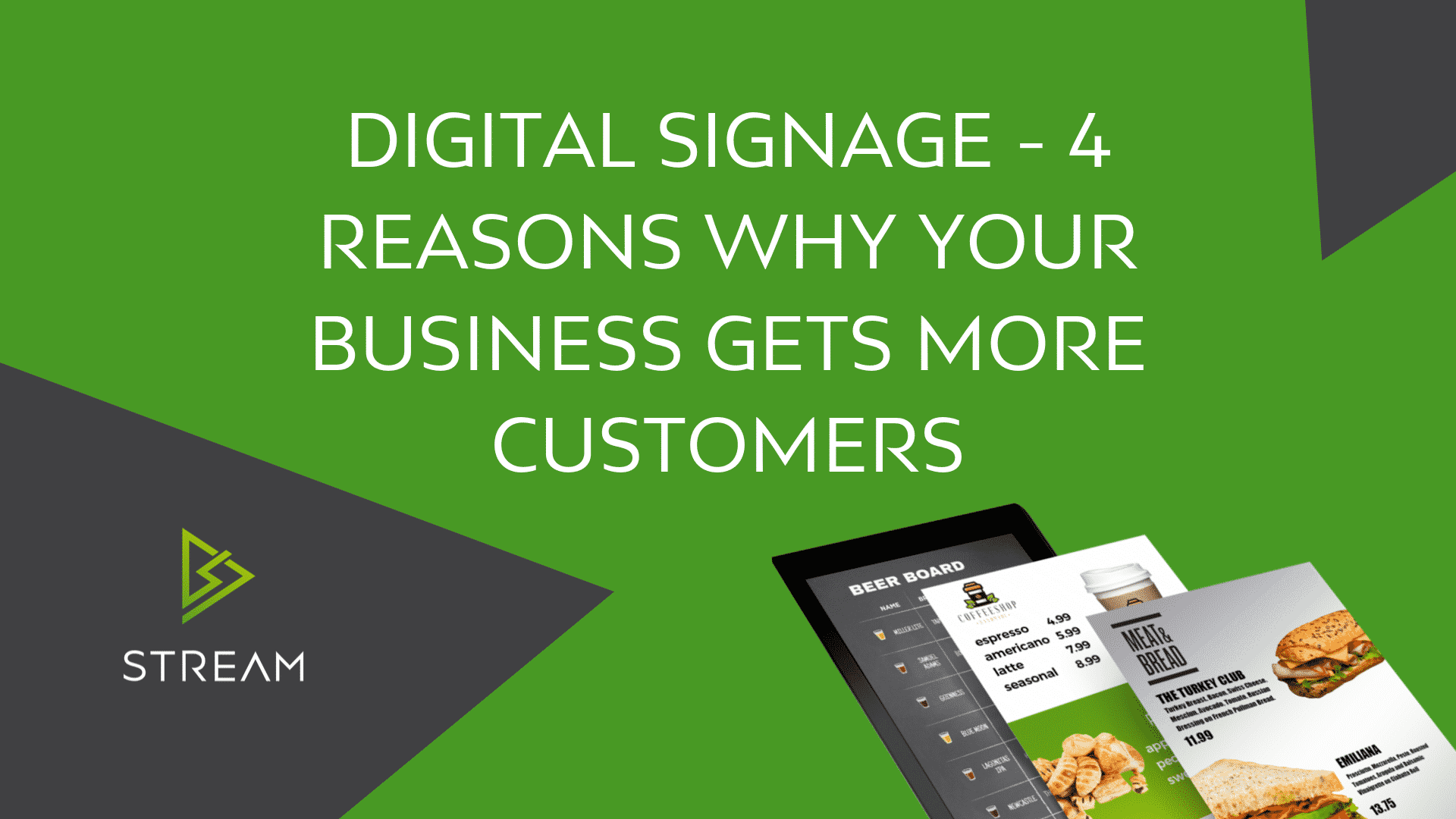 Digital Signage – Why Your Business Gets More Customers