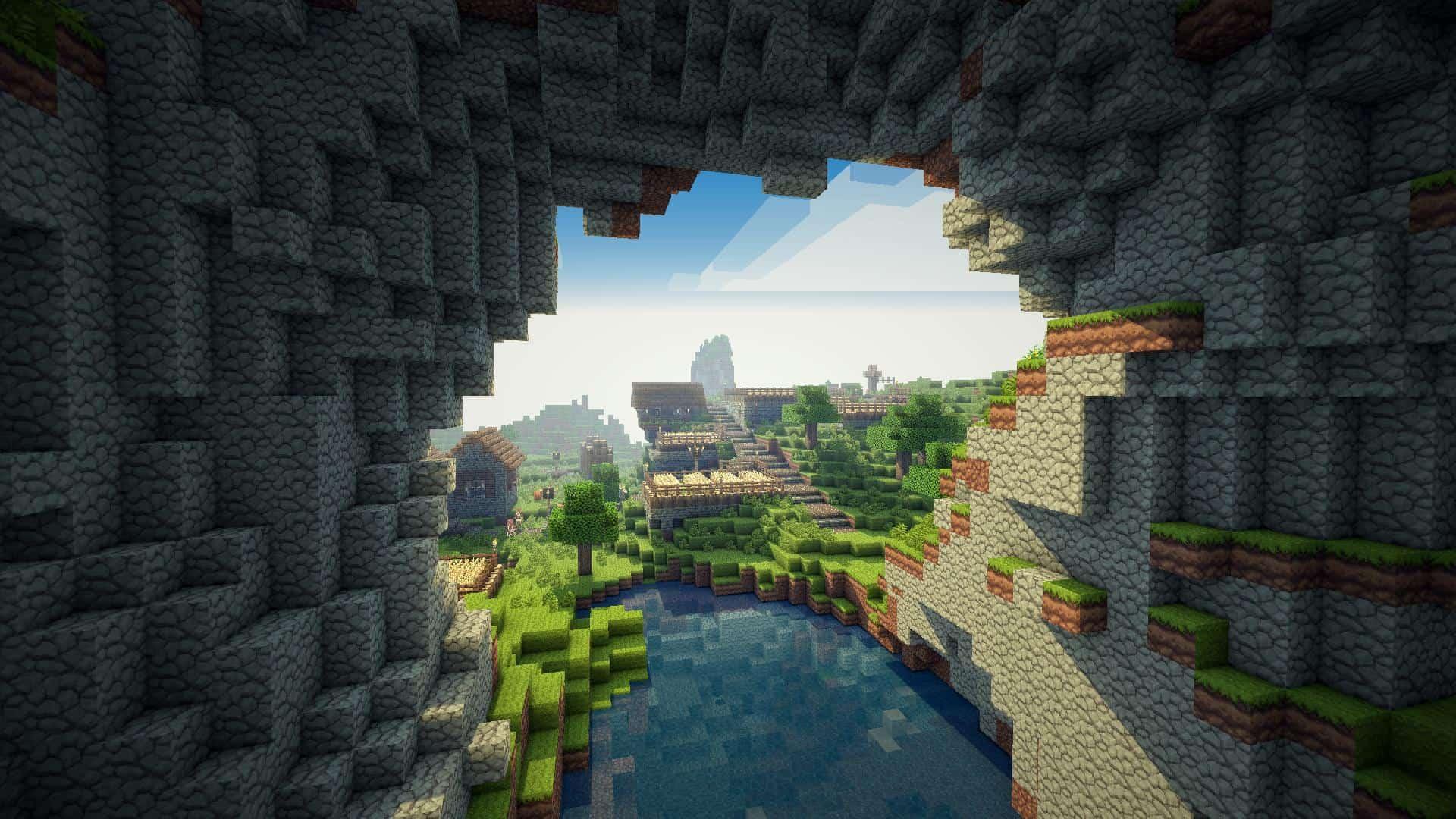 Minecraft senic view cavae city