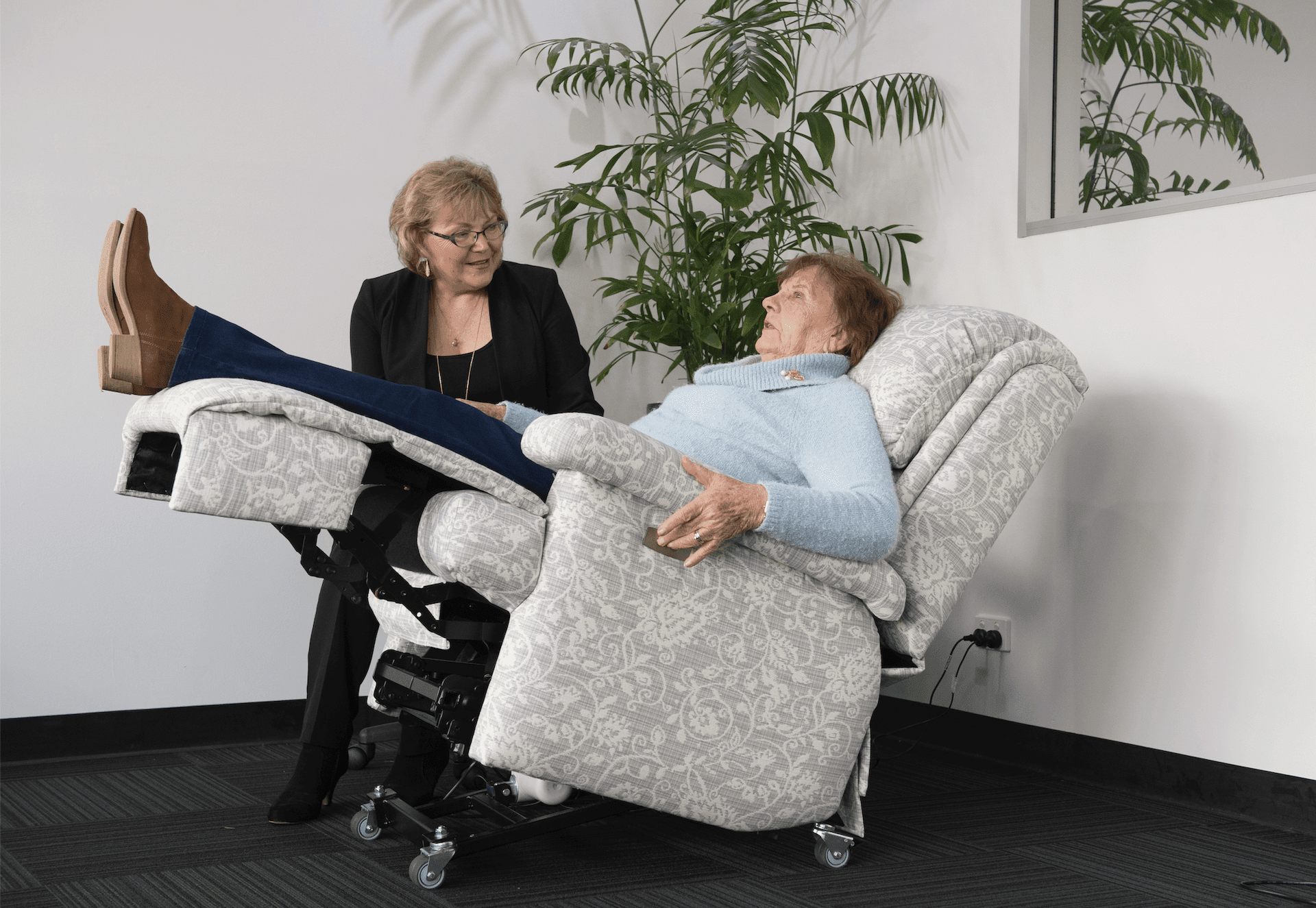 Patented zero gravity chair by Posture Care Chair Co