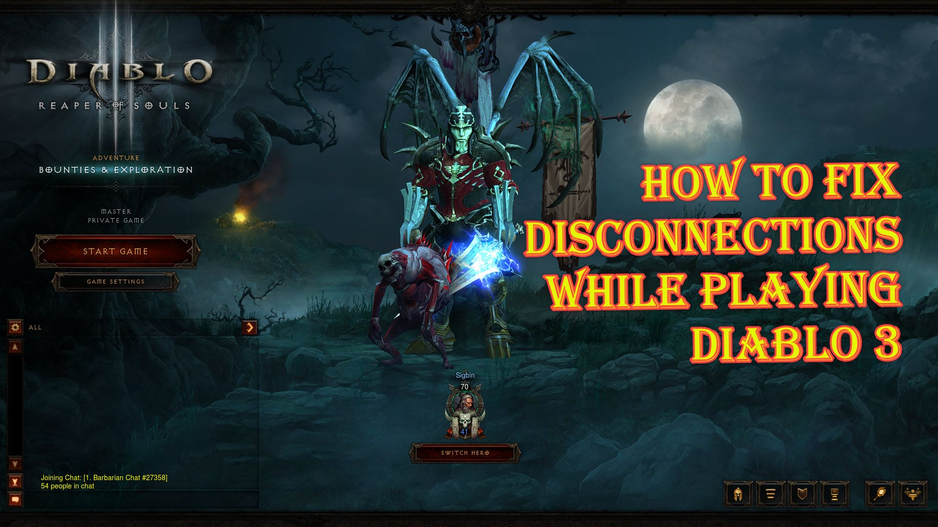 How To Fix Disconnections While Playing Diablo 3