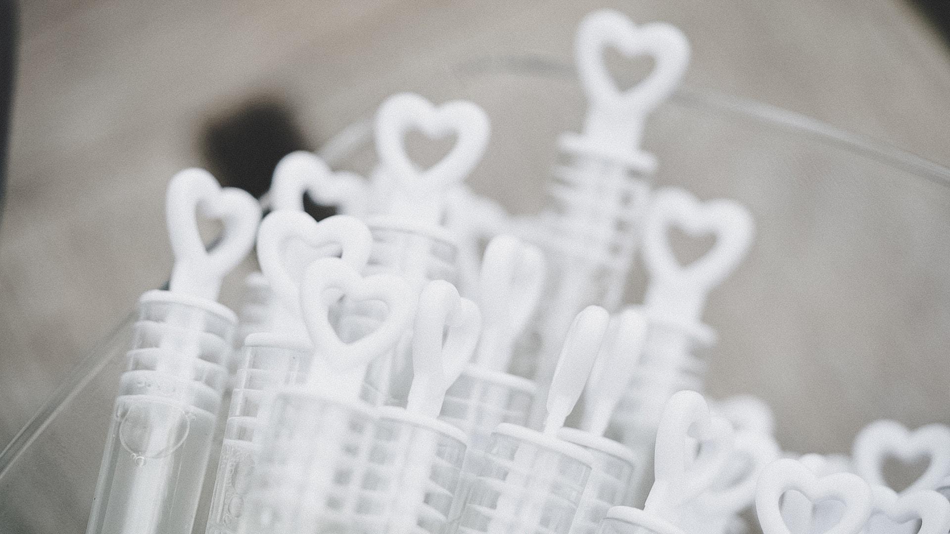 bolle di sapone per matrimonio