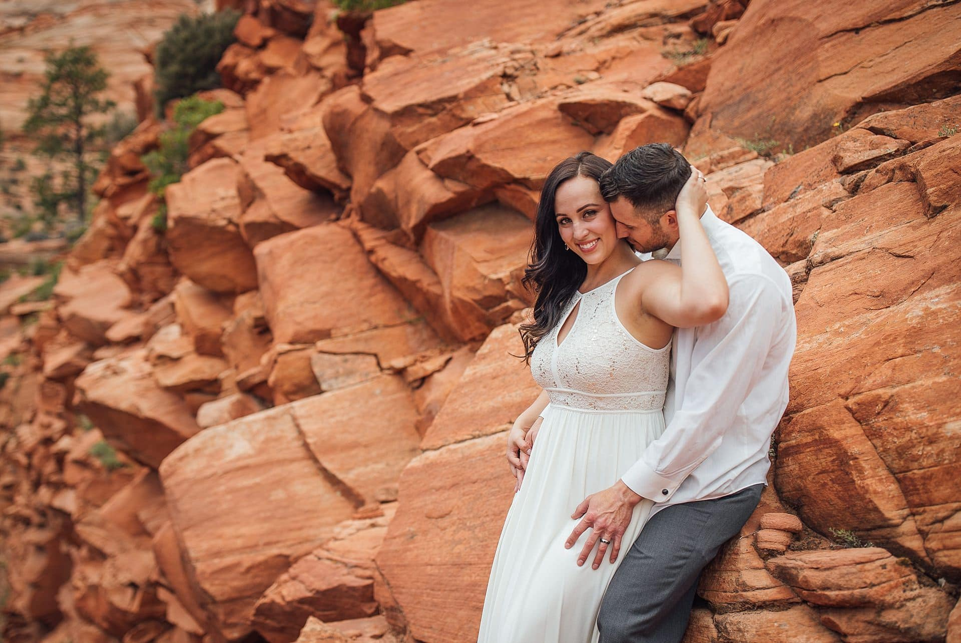 Couple Portraits in Zion National Park