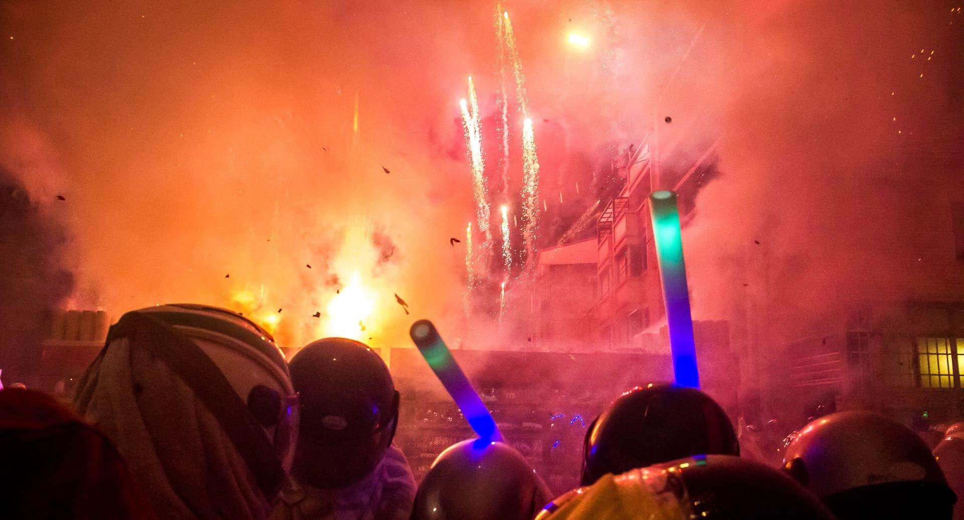 The Yanshui Fireworks Festival in Tainan, Taiwan
