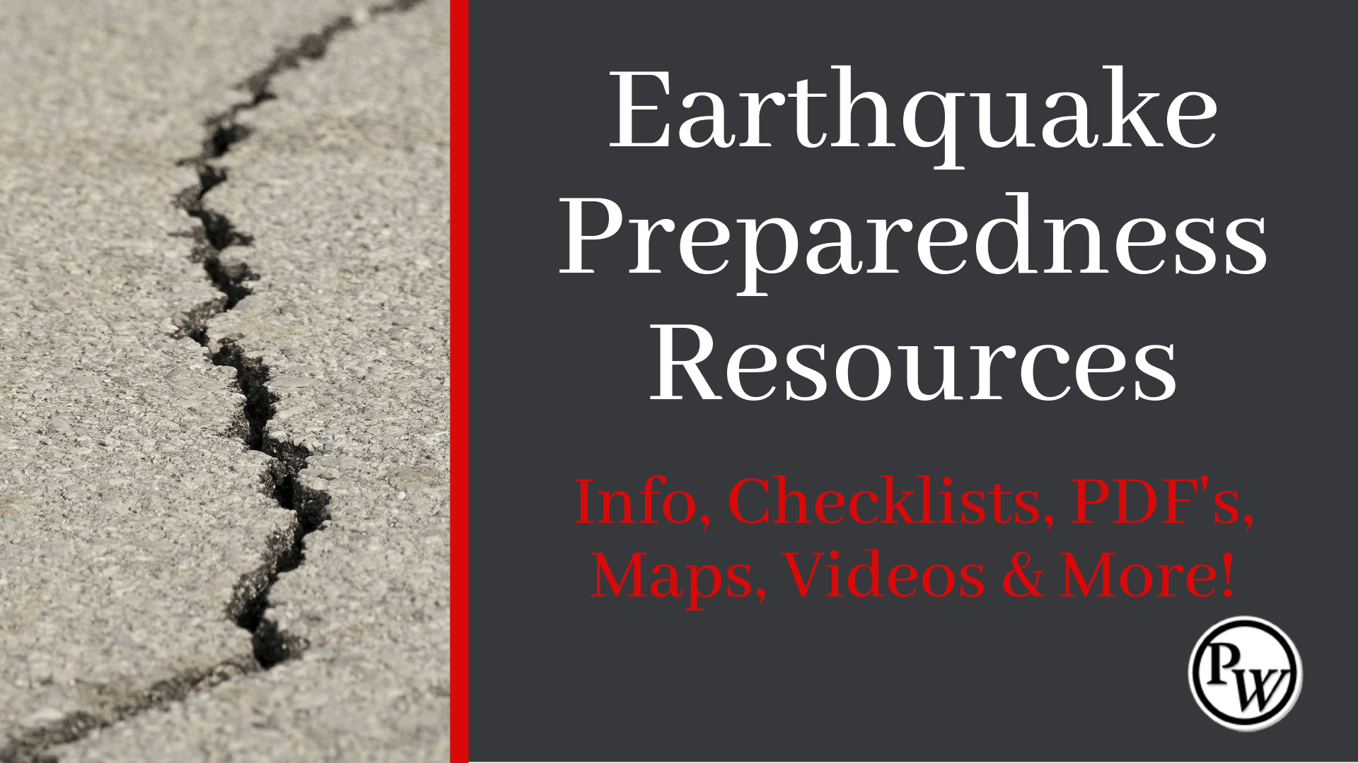 Prepper Resources for Earthquakes
