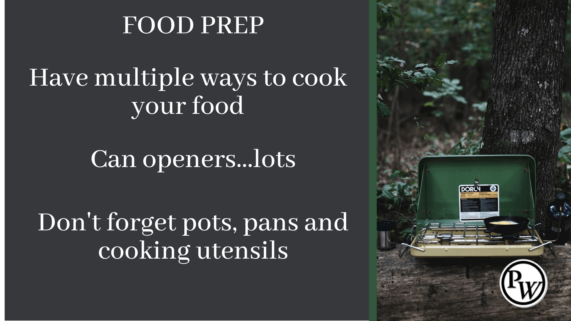 Prepper Checklist Food