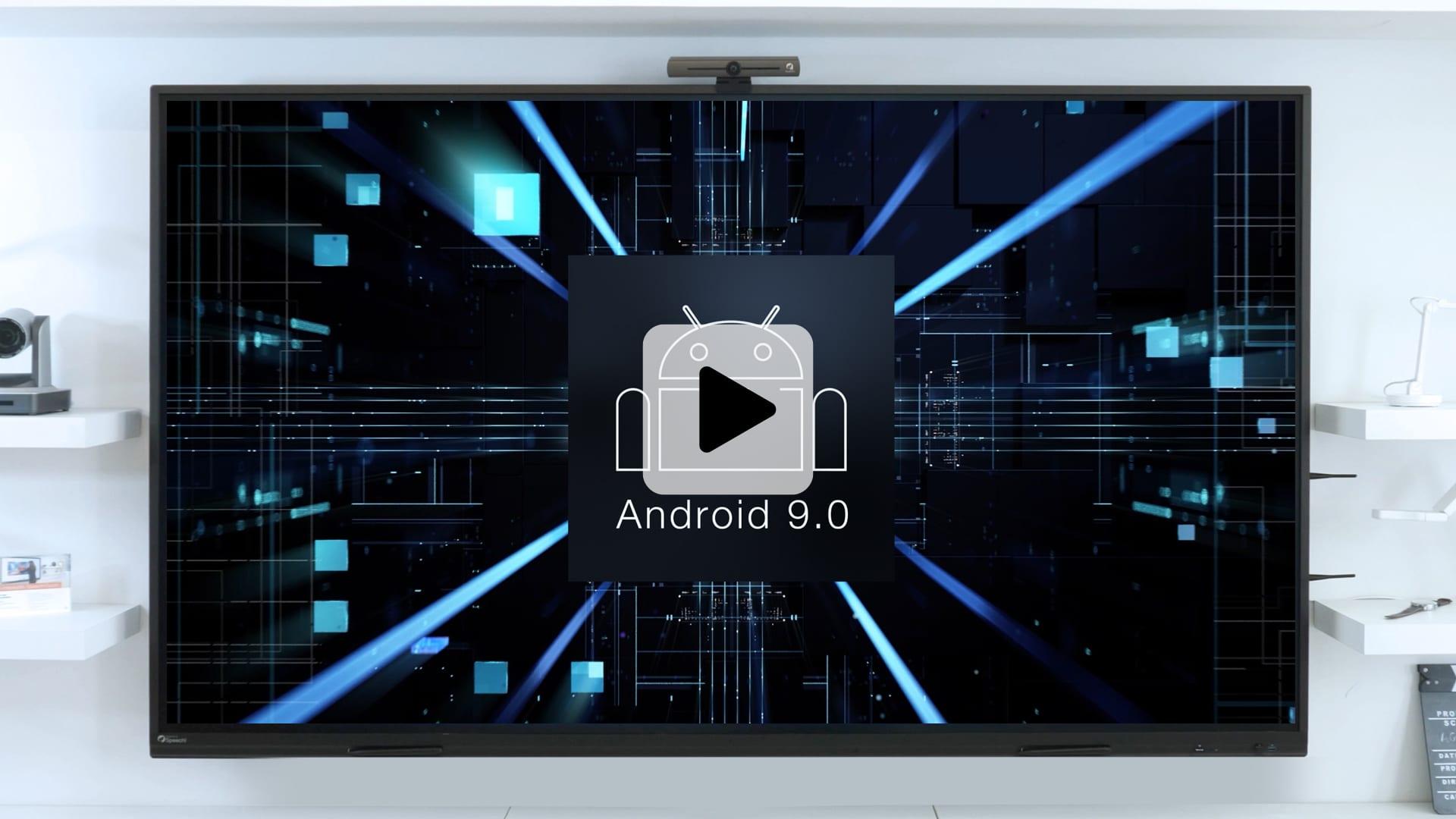 android 9 sur écran interactif superglass 2