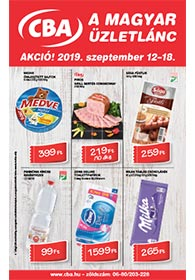 CBA akciós újság 2019. 09.12-09.18