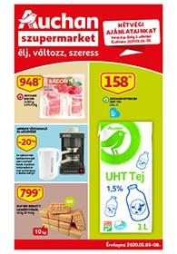 Auchan Szupermarket akciós újság 2020. 01.03-01.08