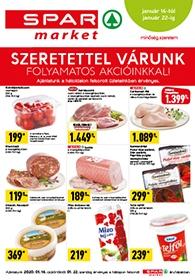 Spar Market akciós újság 2020. 01.16-01.22