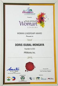 Doris Isubal-Mongaya Woman Leadership Award