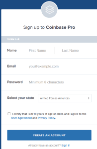 Coinbase - Buy_Sell Digital Currency sign up
