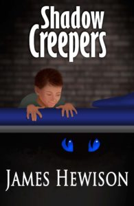 Book cover art-Shadow Creepers children's novel cover for ages 7-12
