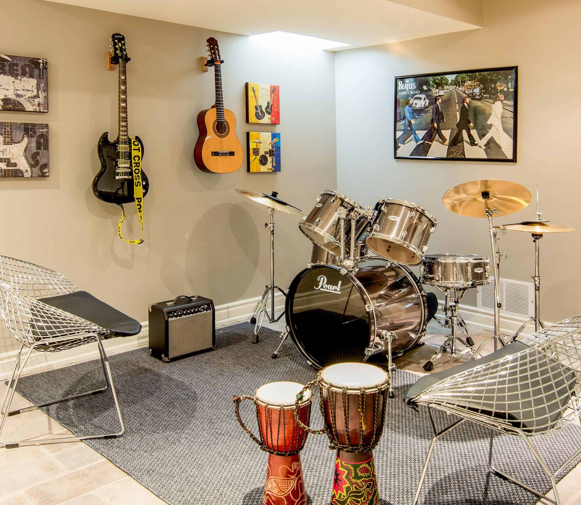 Add a Music Room to your Basement