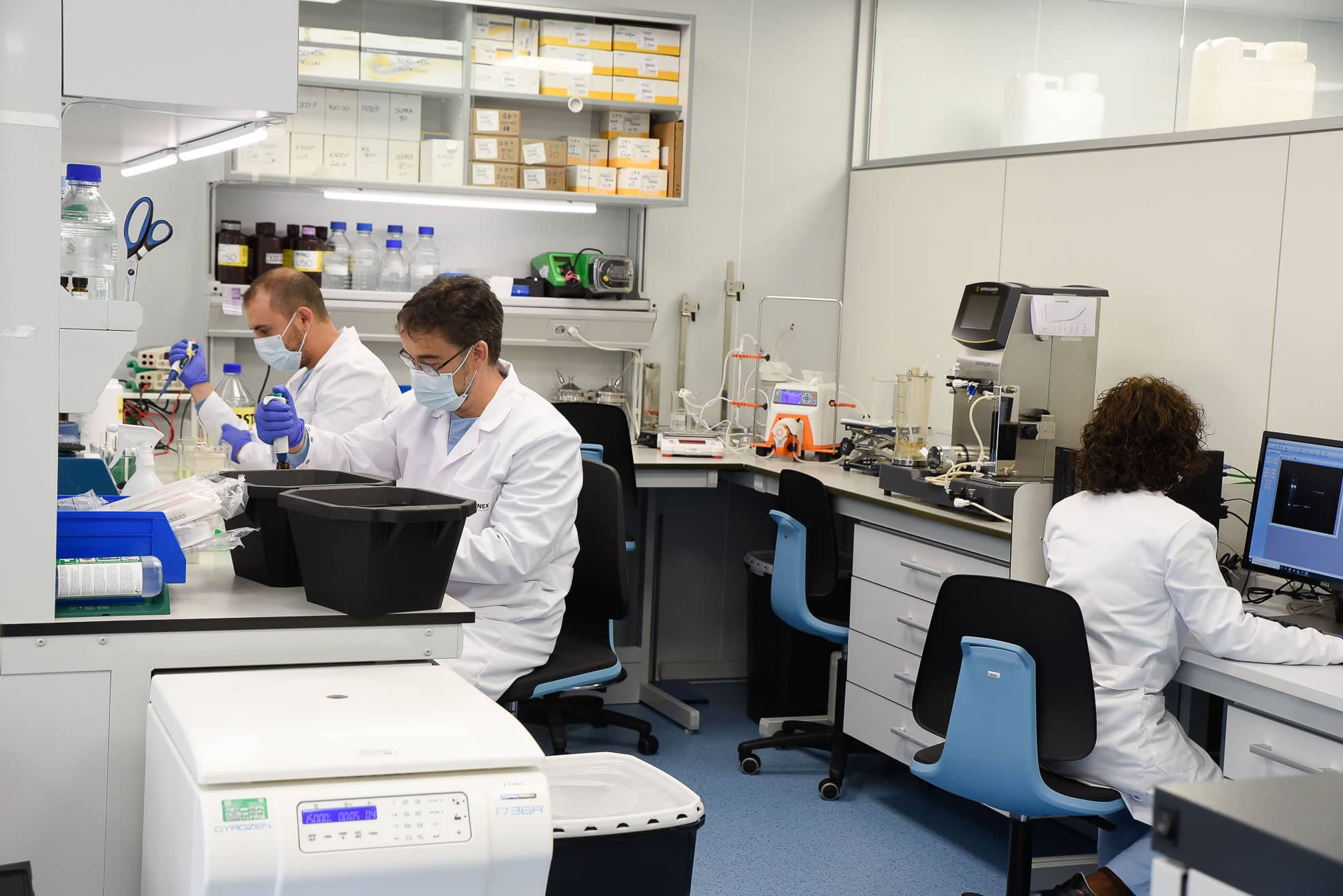 R&D Laboratory at Algenex facilities in Tres Cantos (Madrid)