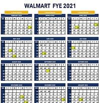 Walmart Fiscal Year Calendar Free Download 8th Walton