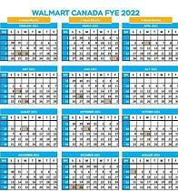 Retail Calendar 2022.Walmart Fiscal Year Calendar Free Download 8th Walton