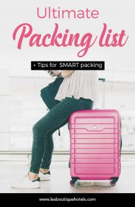 The ultimate packing list: pack smart