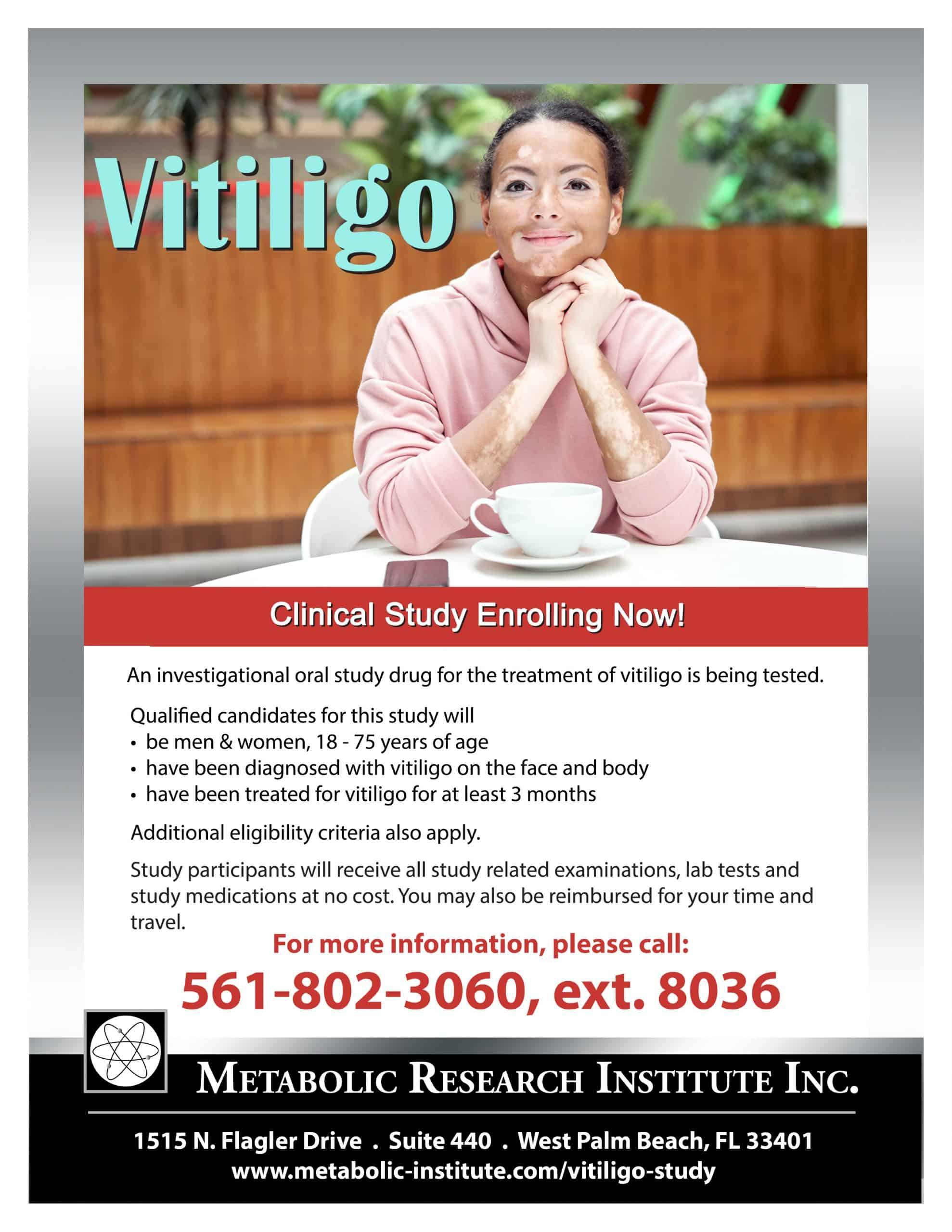 Vitiligo Study Flyer