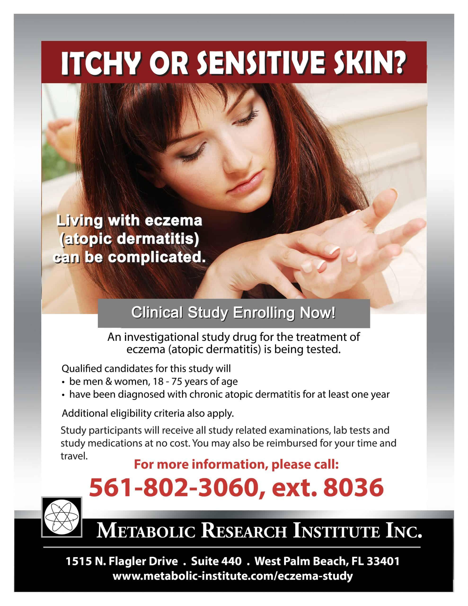 Eczema (Atopic Dermatitis) Clinical Study flyer
