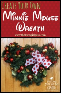 Calling all Disney Fans! Learn how to make the easy Minnie Mouse Wreath for Christmas. It's a simple DIY craft for the Disney lover in all of us!