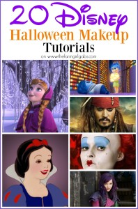 Are your dressing up as a Disney character for Halloween? Check out these 20 Disney Makeup Tutorials to help make your Disney Halloween Costume come to life!