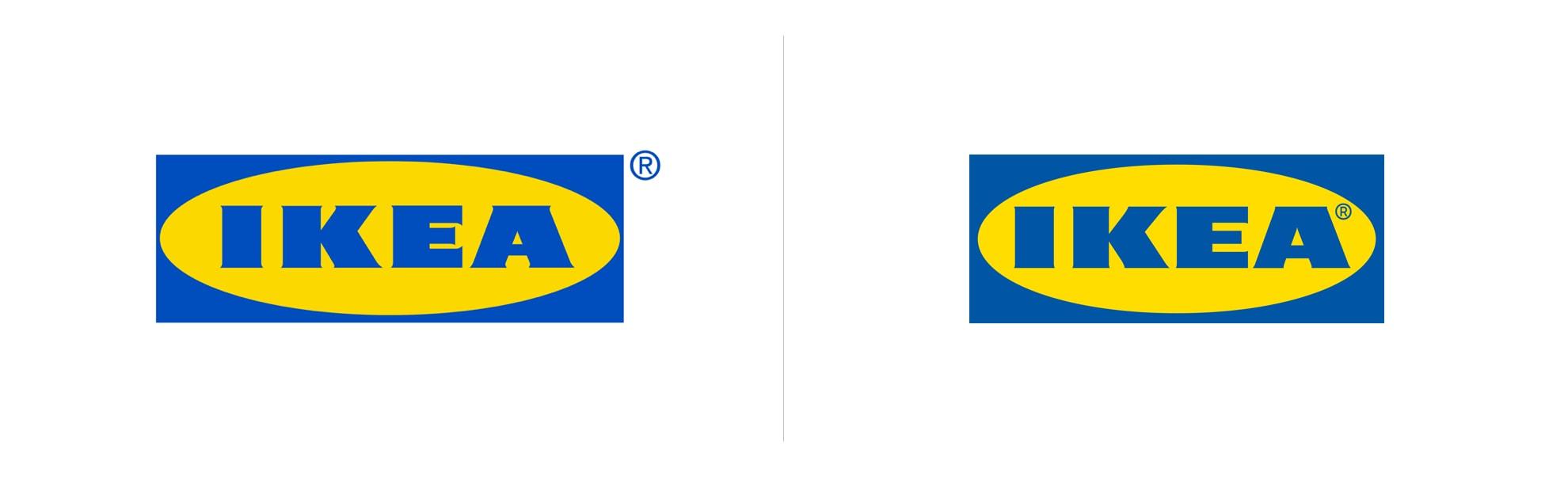 nowe istare logo ikea