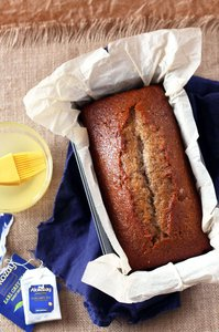 Earl Grey Cake Loaf in pan
