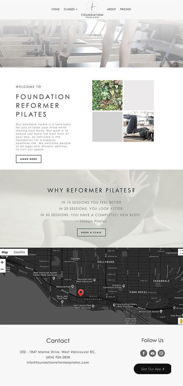 Foundation Reformer Pilates