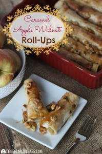 Caramel Apple Walnut Roll-Ups are a delicious dessert, filled with sweet apples, caramel and crunch walnuts. This recipe is perfect for the holidays or any time of the year. [Ad] #MissionInfluencer