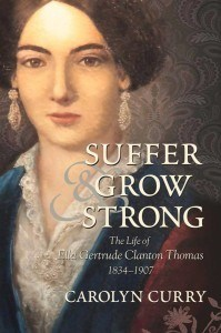 """Suffer and Grow Strong"" by Carolyn Curry book cover"