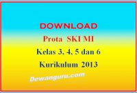 prota ski mi kelas 3, 4, 5 dan 6 kurikulum 2013