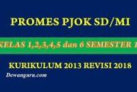 Promes PJOK SD/MI Kelas 1-6