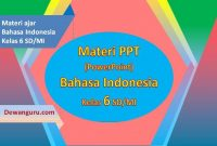 download materi bahasa indonesia ppt kelas 6 sd-mi