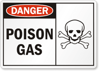 Poison Gas Danger Sign