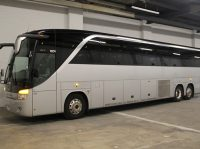 Luxury 50-57 passenger Charter bus / coach bus with toilet