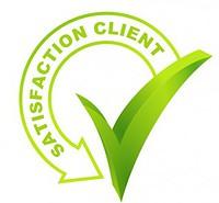 logo qui représente la satisfaction client pour les meilleurs marques