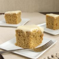 Peanut butter and maple are a perfect match in this simple, delicious cake!