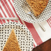 slices of Toffee Pecan Brown Butter Crumb Cake