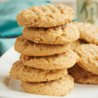 stack of Cream Cheese Peanut Butter Cookies