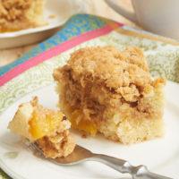 slice of Peach Cobbler Coffee Cake