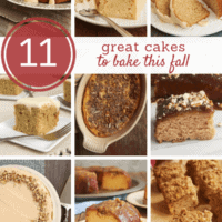 collection of fall cake recipes