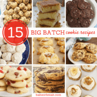 collection of Big Batch Cookie Recipes